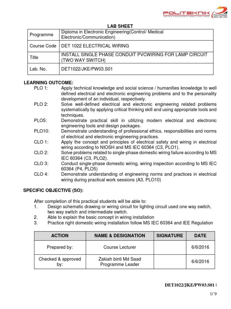 DET1022-PW3   Electrical Wiring   Engineering
