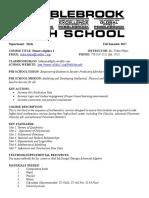 alg2- syllabus fall 17
