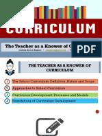 1 the Teacher as a Knower of the Curriculum