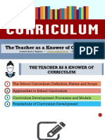 1 the Teacher as a Knower of the Curriculum