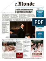 Journal LE MONDE Des Dimanche 6 Et Lundi 7 Aout 2017