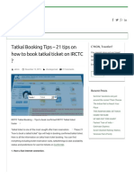 Tatkal Booking Tips – 21 Tips on How to Book Tatkal Ticket on IRCTC _ - ConfirmTkt Blog