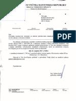 Pozvánka na ministerstvo vnútra k pripomienkam k novele zákona o obecnom zriadení