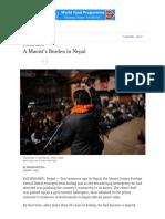 A Maoist's Burden in Nepal - NYTimes.com