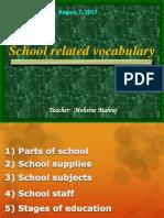 Parts of School