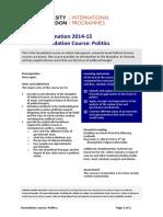 FP0004 Foundation Course - Politics