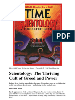TIME Magazine - Scientology - The Thriving Cult of Greed and Power