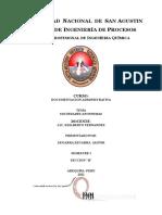 Escuela Profesional de Ingeniería Química