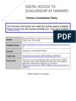 How to Choose a Constitutional Theory - Richard Fallon Jr.
