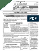 Diario Oficial El Peruano, Edición 9780. 07 de agosto de 2017