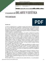 238141213 Filosofia Del Arte y Estetica Yves Michaud