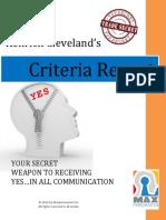 Criteria Report