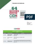 CIDH Calendario 164 Audiencias Es