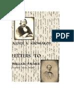 Alexei Khomiakov - Letters to William Palmer