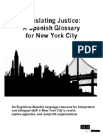 English-SPANISH Glossary Translating-Justice NYC VERA-Institute