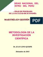 Metodología de Investigación - Gestión Pública