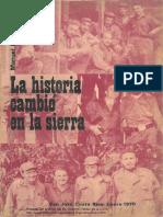 La Historia Cambio en La Sierra. Manuel Rojo del Rio