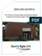 Disability Rights Iowa report on the Boys State Training School at Eldora