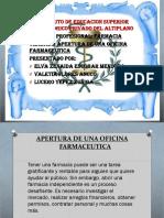 APERTURA DE UNA OFICINA FARMACEUTICA