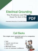 strong cap-electrical grounding