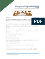 Producción de Documentos Con Las Tareas Asignadas a Los Miembros de Un Equipo