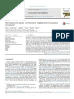 Microplastics in Aquatic Environments Implications for Canadian Ecosystem