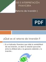 Análisis e Interpretación Financiera ROI