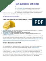 The Lemonade Diet Ingredients and Recipe.pdf
