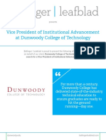 Dunwoody College of Technology - VP of Institutional Advancement