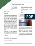 Informe Planta Térmica