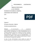 CÓDIGO DE PROCEDIMIENTO CONTENCIOSO ADMINISTRATIVO