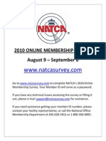 Flyer - Membership Survey Notice - Online Survey
