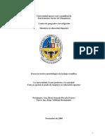 Proyecto Metodologico de Trabajo Cientifico