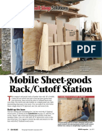 Mobile Sheet Goods Rack Cutoff Station
