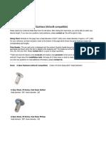 Airloc A-Spec Fastener Information