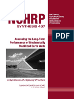 Assessing the Long-Term Performance of Mechanically Stabilized Earth Walls
