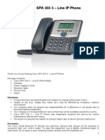 Cisco SPA 303 3 - Line IP Phone Installation and Setting Up