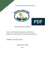 ESTDIO DEL MERCADO, Concepto de Mercado e Identificación Del Bien o Servicio