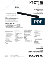 Soundbar Sony Ht-ct180 Ver.1.0
