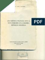 Los partidos políticos ante el voto femenino en la Segunda República Española - Rosa Mª Capel Martínez