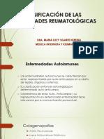 Clasificación de Las Enfermedades Reumatológicas 2016