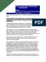 Los Derechos de La Republica de Bolivia Para Su Salida Al Mar
