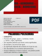 Polisemia – Homonimia – Homografia – Homofonia