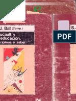 Ball Stephen - Foucault y la educacion.pdf