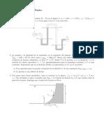Serie de ejercicios de la ecuación de la hidrostática