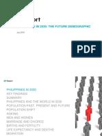 Philippines in 2030 the Future Demographic
