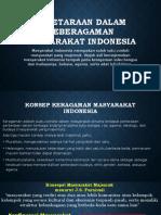 Kesetaraan Dalam Keberagaman Masyarakat Indonesia