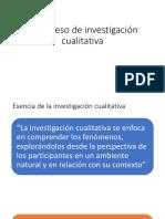 El Proceso de Investigación Cualitativa