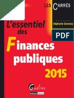 Stéphanie Damarey-L'Essentiel Des Finances Publiques 2015-GUALINO EDITIONS (2015)