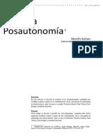 MARTIN KOHAN Sobre La Postautonomía